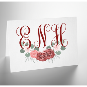 Personalized Folded Note Card | Cranberry Crush
