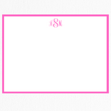 Classic Stationery Note Card Set of 10 | Pink Monogram