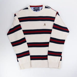 Tommy Hilfiger Knit Sweater White/Red - M