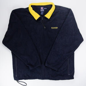Ralph Lauren Chaps Full-Zip Fleece Navy/Yellow - XXL