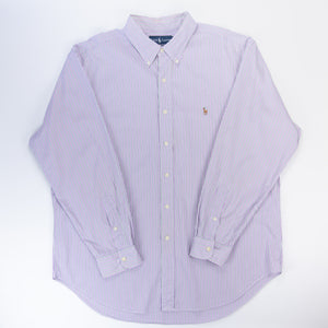 Ralph Lauren Casual Striped Shirt Purple/Green - L
