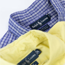 Load image into Gallery viewer, Ralph Lauren Short Sleeve Shirt Blue/White - L