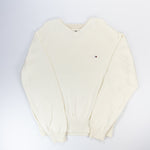 Tommy Hilfiger Cotton Jumper Cream - L