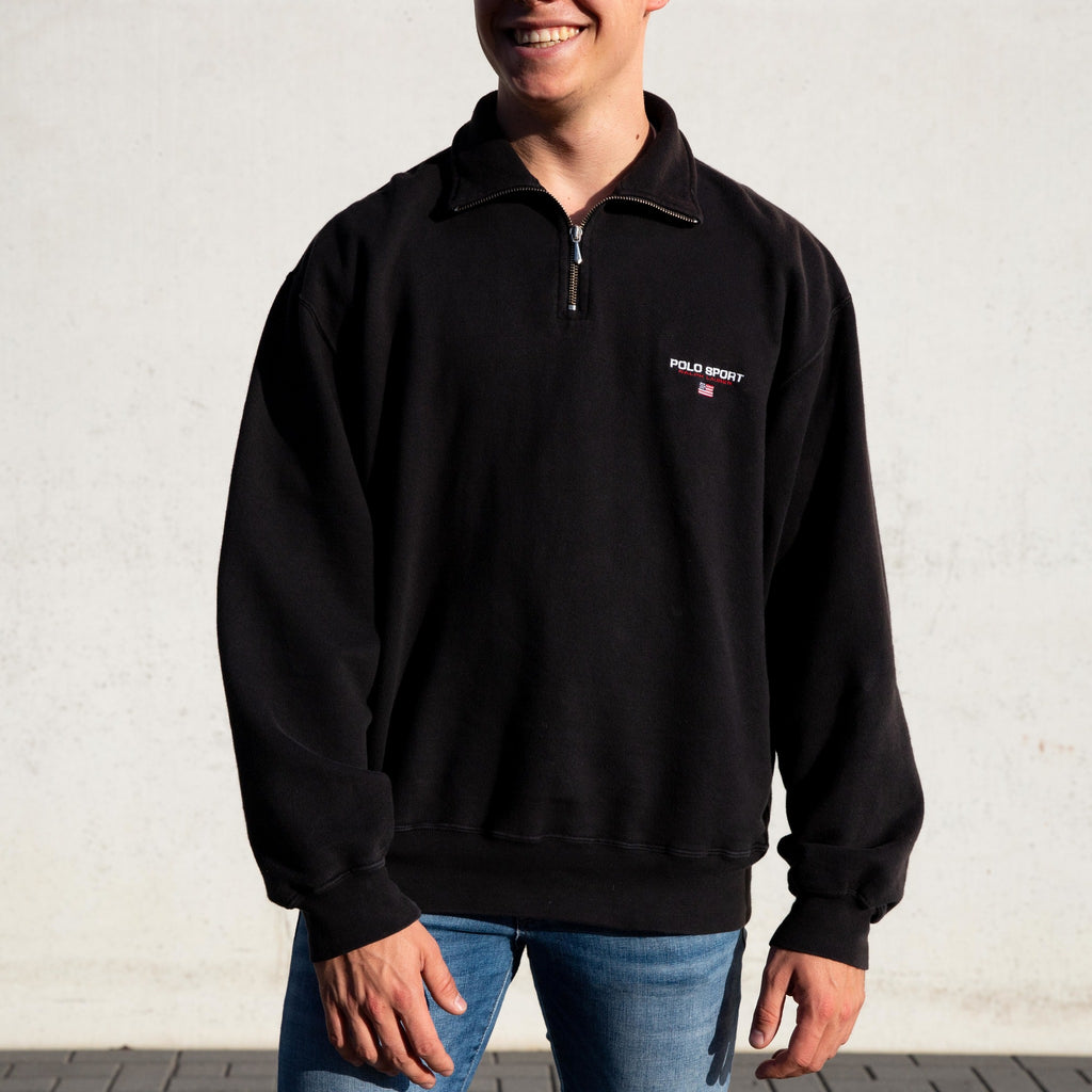 Ralph Lauren Polo Sport 1/4 Zip Black - L