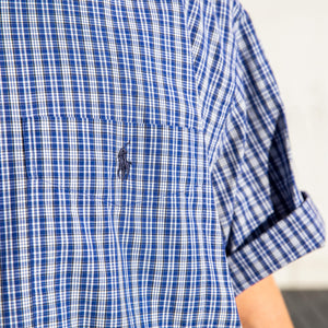 Ralph Lauren Short Sleeve Shirt Blue/White - L