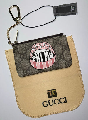GG LIPS Coin Purse TAN wallet