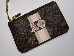 LV Monogram Pouch with Sorority Monogram Wallet