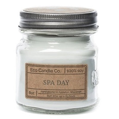 Spa Day Mason Jar 8oz Candle