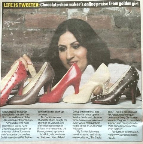 YORKSHIRE EVENING POST- CHOCOLATE SHOES