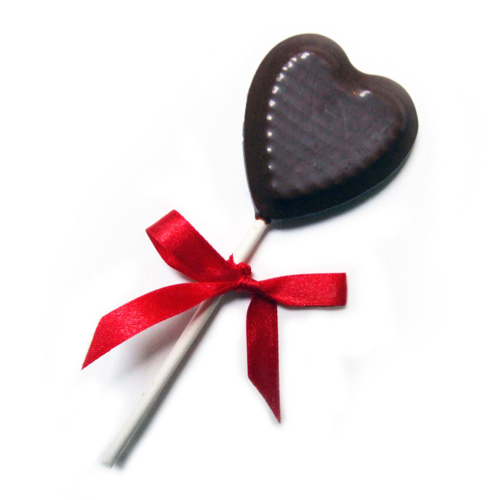 Chocolate Heart Lollipop, great chocolate wedding favours or for the ...
