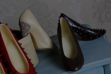high heel chocolate shoes