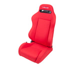Reclindable Racing Seat Cloth with Red Stitching