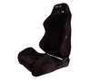 Reclindable Racing Seat Suede with Red Stitching