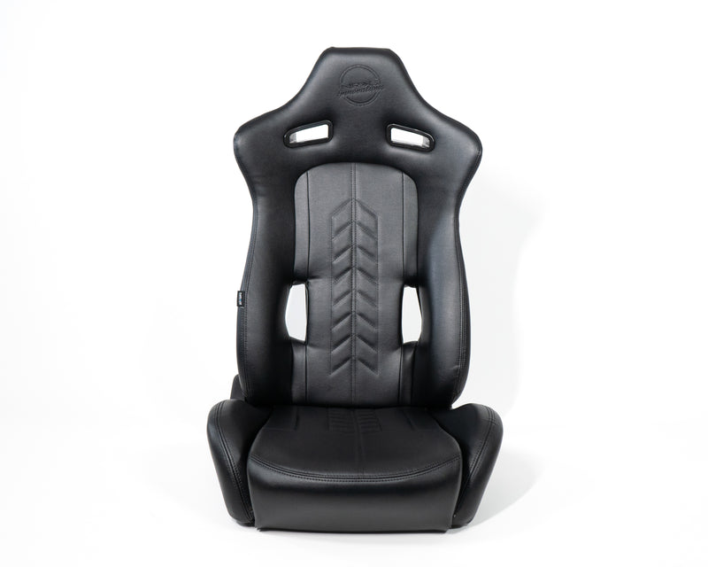 Reclindable Racing Seat Arrow in Vinyl