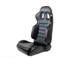 Reclindable racing Seat Red Stitching