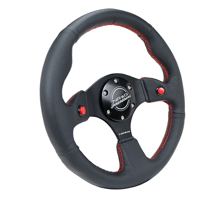 DUAL BUTTON STEERING WHEEL LEATHER