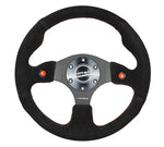DUAL BUTTON STEERING WHEEL SUEDE
