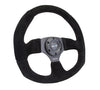FLAT BOTTOM STEERING WHEEL SUEDE