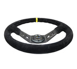 350MM TWO SPOKE STEERING WHEEL SUEDE