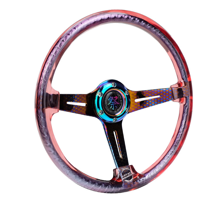 MATSURI ACRYLIC STEERING WHEEL GEOMETRIC NEO CHROME