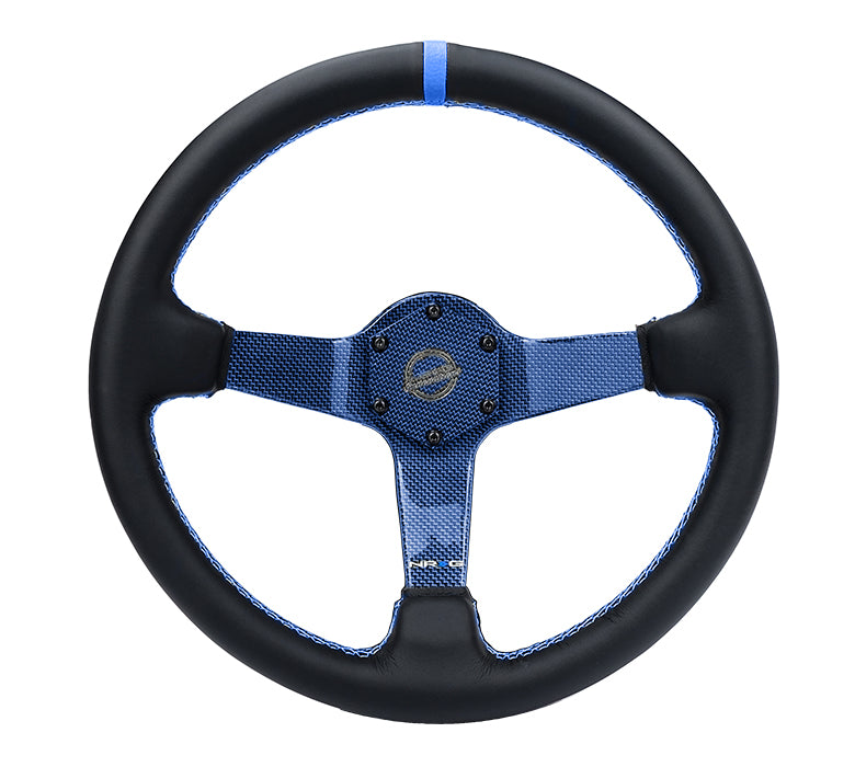 CARBON FIBER COLORED STEERING WHEEL 350MM DEEP DISH