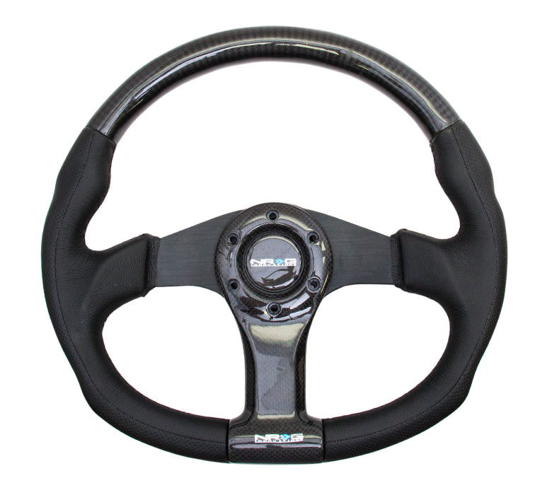 CARBON FIBER STEERING WHEEL OVAL SHAPE