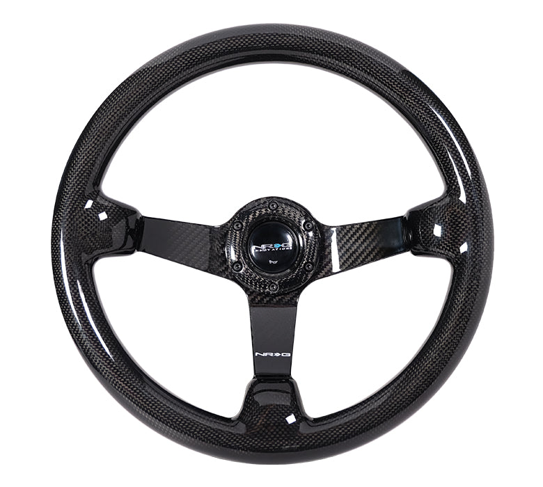 CARBON FIBER STEERING WHEEL 350MM DEEP DISH