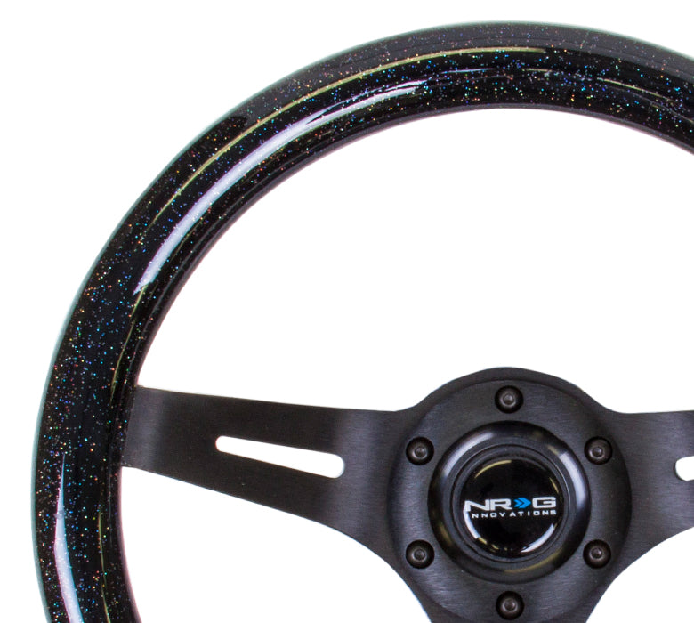 310MM WOOD GRAIN STEERING WHEEL