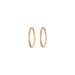 Gold Hoops with tiny CZ