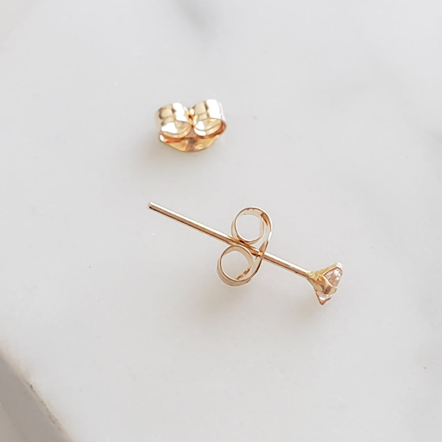 Tiny 10K Gold Earring Backs