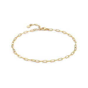 Tiny Paperclip Link Anklet