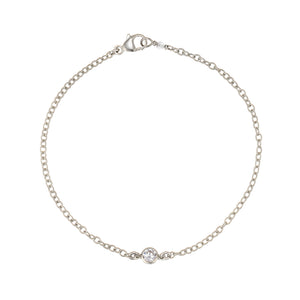 Solitaire Diamond CZ Bracelet