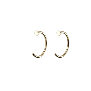 Dot Hug Hoops in 14k Gold
