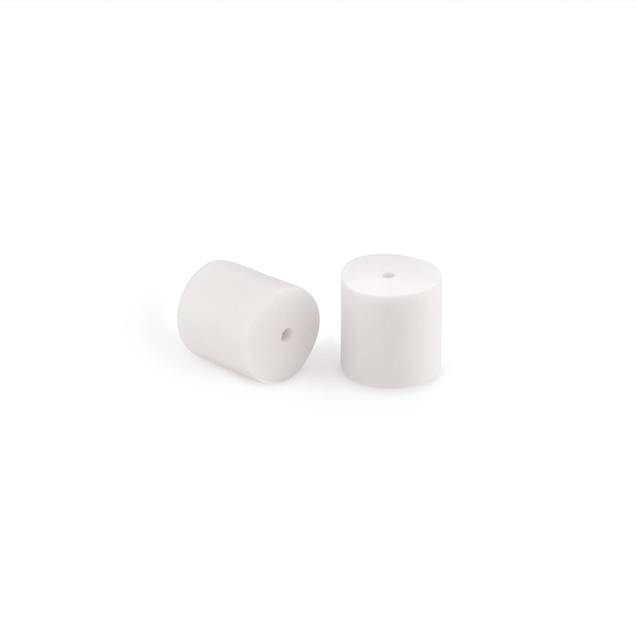 White Rubber Ear Nuts