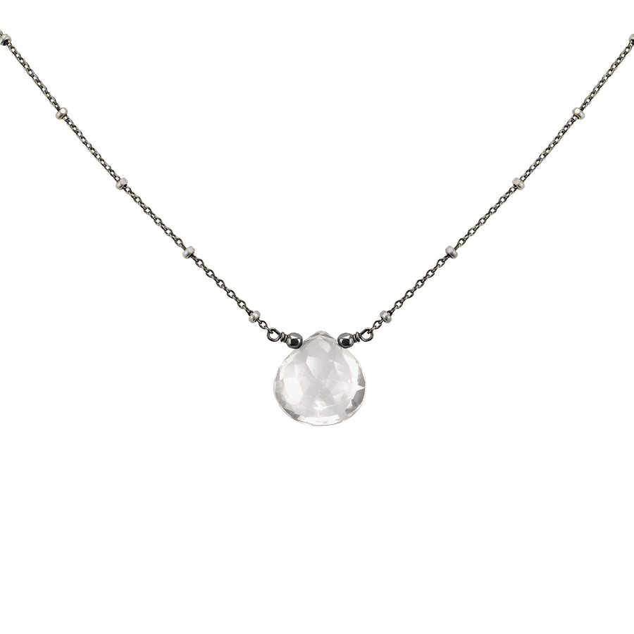 Solitaire Quartz Drop Necklace