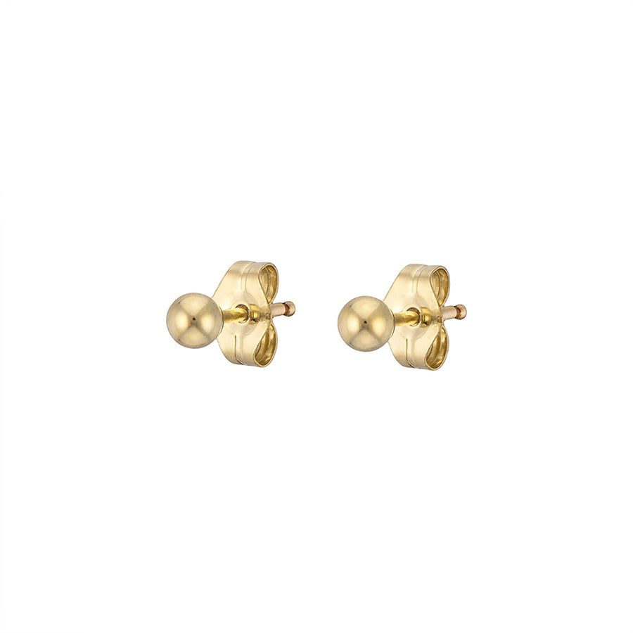 Dainty Ball Studs in 14K Gold