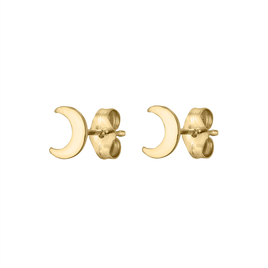 Perfect Crescent Moon Studs