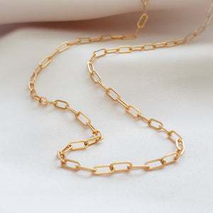 Tiny Paperclip Link Necklace