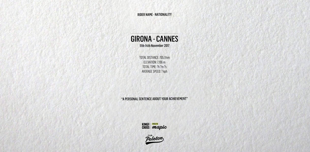 KING'S CROSS CYCLE TO MAPIC - Girona - Cannes-Personalised Print-MassifCentral