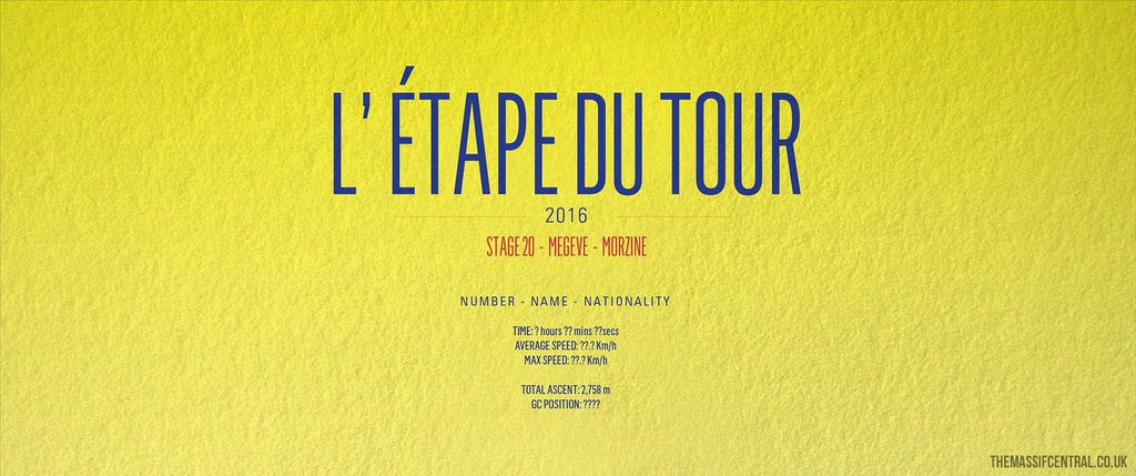 Étape du Tour - 2016-Personalised Print-MassifCentral