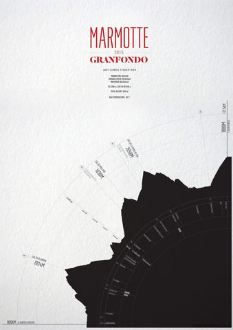 La Marmotte Gran Fondo - All editions-Personalised Print-MassifCentral