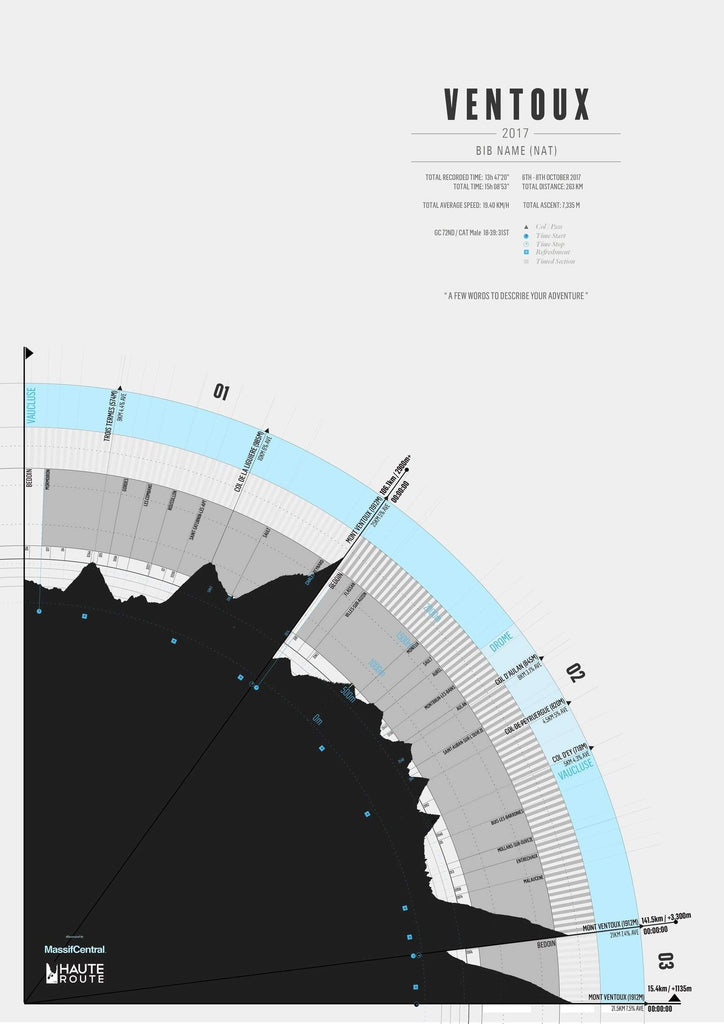 Haute Route 2017 Mt Ventoux-Personalised Print-MassifCentral