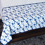 Blue Geometrical Print 100% Cotton Reversible Printed Double Bed and Single Bed Dohar