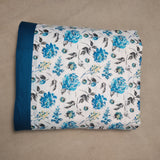 Tropical Floral Reversible Print 3-layer Cotton Dohar Double Bed