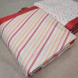 Polka Dot and striped Geometric Cotton 3 layered Reversible Print Dohar (Single Bed)