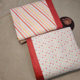 Polka Dots with stripes Reversible Print 3 layered Cotton Dohar Double Bed