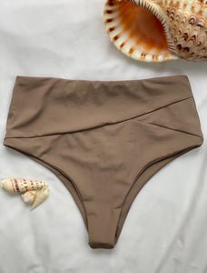 Mānana High Waisted Bottom - Cocoa