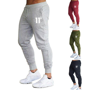 Hot Mens Casual Slim Fit Tracksuit Sports Solid Male Gym Cotton Skinny Joggers Sweat Casual Pants Trousers
