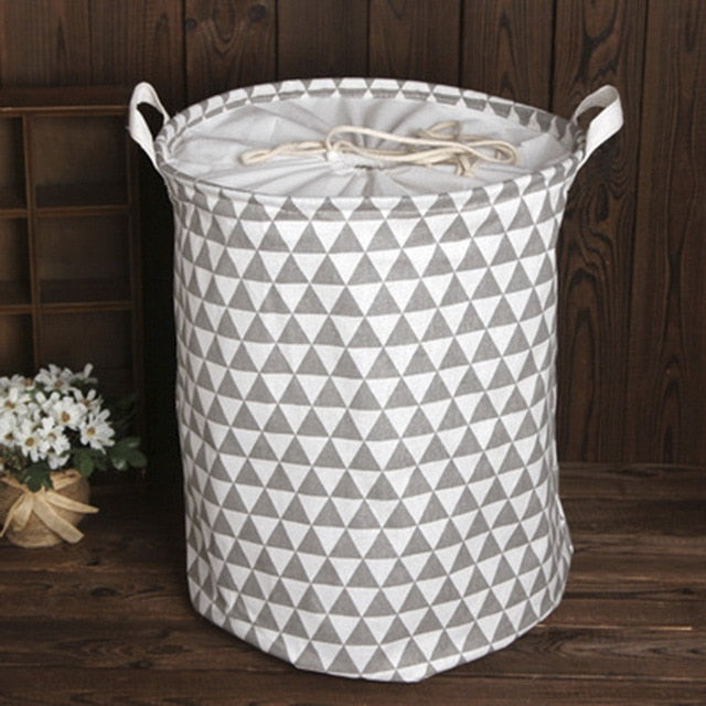35cmx45cm Folding Drawstring Port Dirty Clothes Laundry Basket For Toy Clothing Storage Bucket Laundry Organizer