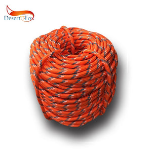 Desert&Fox Climbing Rope 10m/20m/30m/50m Outdoor Emergency Rope Wear Resistant 9mm Diameter High Strength Hiking Accessory Tool